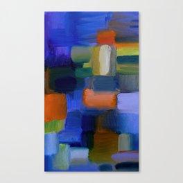 """Mosaic"" Original oil finger painting by Monika Toth Canvas Print"
