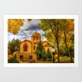 Autumn at Holy Cross Greek Art Print