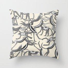monkey light Throw Pillow