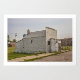 Post Office, Regan, North Dakota 2 Art Print