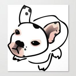 French Bulldog Pup Drawing Canvas Print