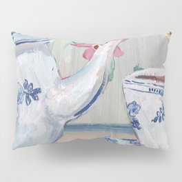 Blue & White china teapot Pillow Sham