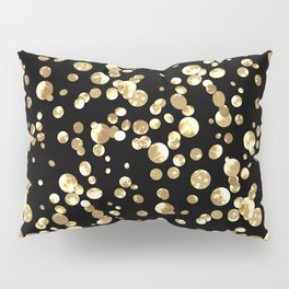 Golden confetti. Brilliant . Pillow Sham