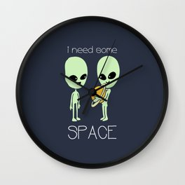 Need Some Space Wall Clock