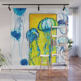 Blue jellys Wall Mural