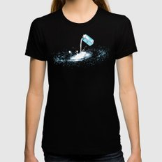 The Milky Way Womens Fitted Tee SMALL Black