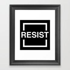 Resist 2 Framed Art Print