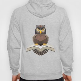 Vector, Brown Owl fly with the book Hoody