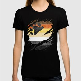 Gay Bear Pride Flag Ripped Reveal T-shirt