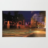 revolution Area & Throw Rugs featuring Revolution by Stacey Cat