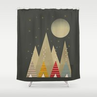 paradise Shower Curtains featuring paradise by bri.buckley
