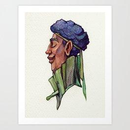 Chill Purple Cabbage Art Print