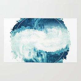 Abstract Sea Storm Rug