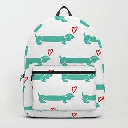 Sausage Dog Love Backpack