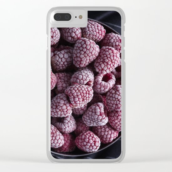 frozen berries Clear iPhone Case