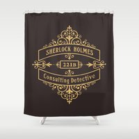 conan Shower Curtains featuring Consulting Detective by sirwatson