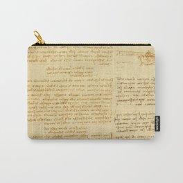 "Leonardo da Vinci ""Notes on bird flight"" Carry-All Pouch"