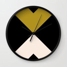 Minimal X Dark Olive Wall Clock