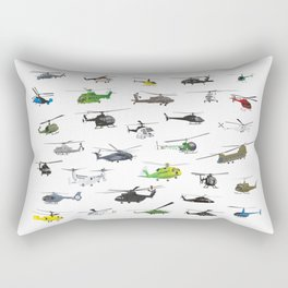 All Helicopters Pattern Rectangular Pillow