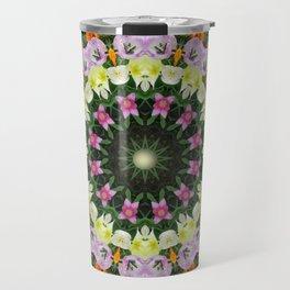 Floral mandala-style, Tulips - Flower Mandala Travel Mug