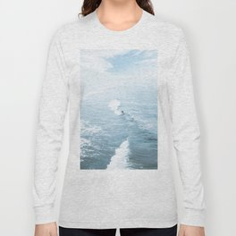 Blue Waves Surfer Long Sleeve T-shirt