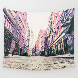 Stone Street - Financial District - New York City Wall Tapestry