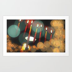 Hanukkah candles Art Print