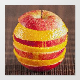 Apple and orange mixed painting Canvas Print