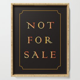 NOT FOR SALE Serving Tray