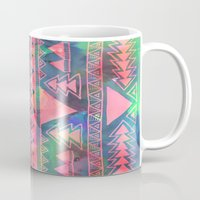 techno Mugs featuring Techno Native by Schatzi Brown