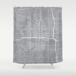 Lansing Map, Michigan USA - Pewter Shower Curtain