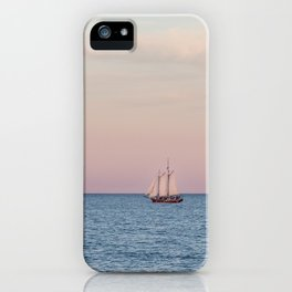 Red Witch Tall Ship in Kenosha, WI at Golden Hour iPhone Case