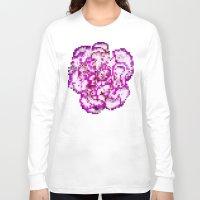 8bit Long Sleeve T-shirts featuring 8BIT flower by Alfredo Lietor