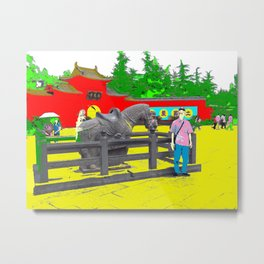A Horse That Stays Metal Print