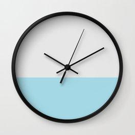 Dip Dyed Blue Colour Block Soar Wall Clock