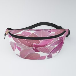 Modern blush pink coral watercolor tropical orchid floral Fanny Pack