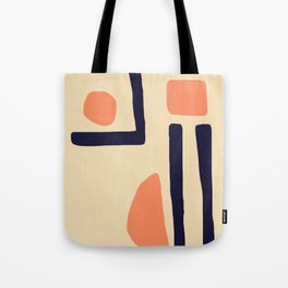 Coral and Blue Tote Bag