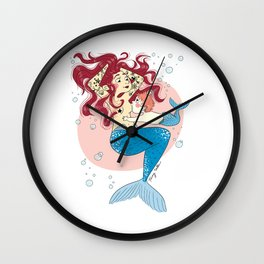 Sirène allaitante (mermaid breastfeed) Wall Clock