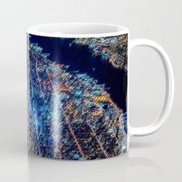 Manhattan Nighttime Skyline Cityscape Landscape Painting by Jeanpaul Ferro Coffee Mug