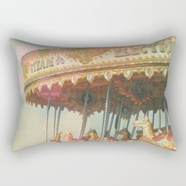 Circling Horses Rectangular Pillow
