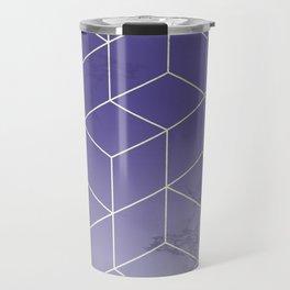 Geometric Marble Ultraviolet Purple Gold Travel Mug