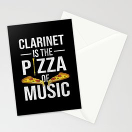 Clarinet Is The Pizza Of Music Stationery Cards
