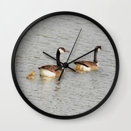 Canadian Geese Family Wall Clock