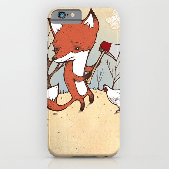 Fox and Chicken iPhone & iPod Case