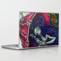 marceline Laptop & iPad Skins featuring Pixie Strangling - Marceline & Finn by Poofette