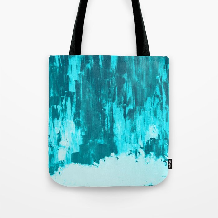 Bright Blue Snow Nights with Icicles Tote Bag