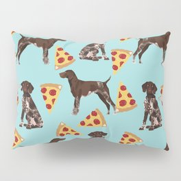 German Shorthair Pointer dog breed pet art pizza slices pattern design by pet friendly dog lovers Pillow Sham