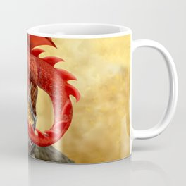 Red Dragon's Treasure Chest Coffee Mug