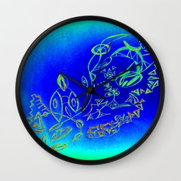 Life in the Ocean Wall Clock