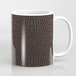 Alligator Brown Leather Print Coffee Mug